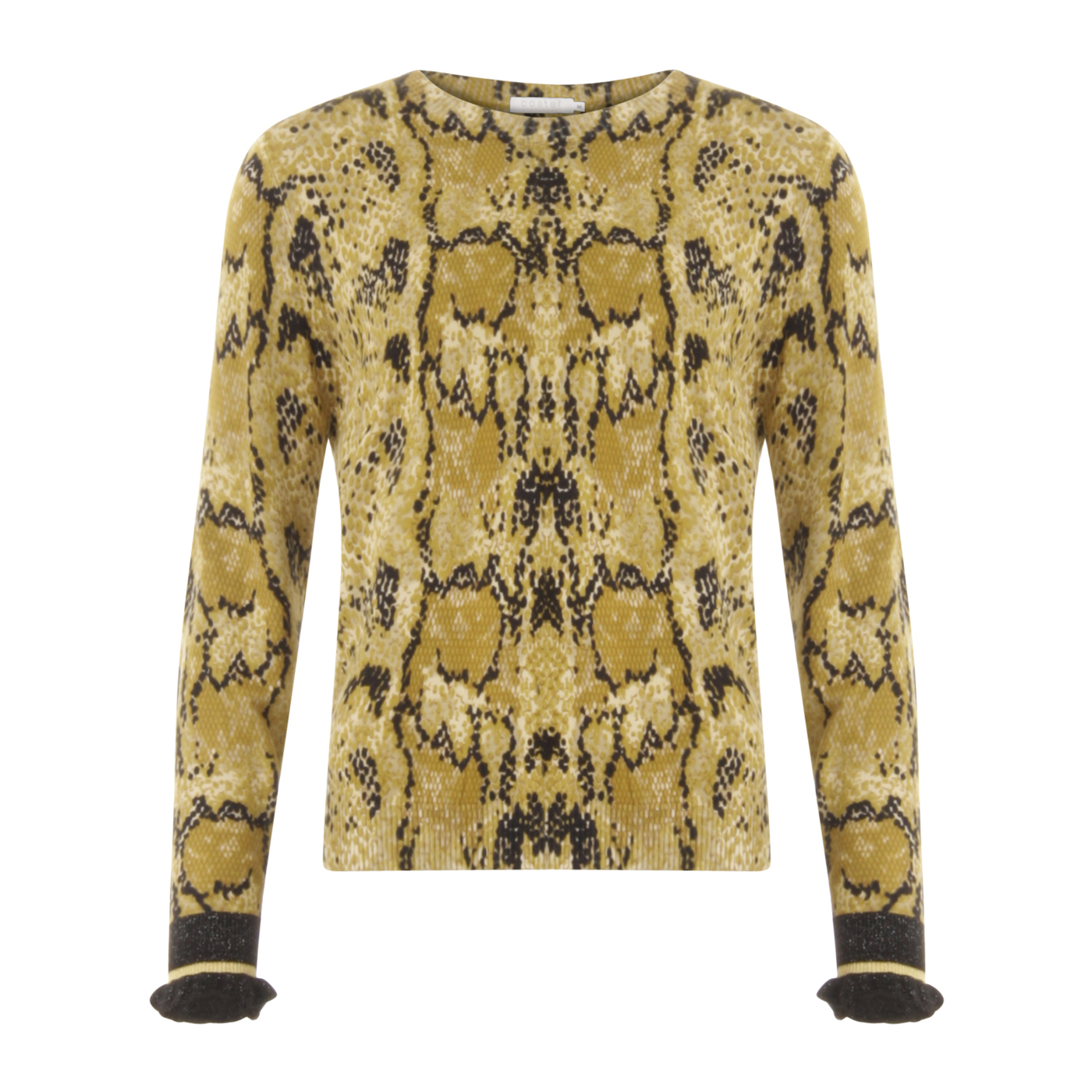 Coster Copenhagen Sweater in Python Print Yellow – garde