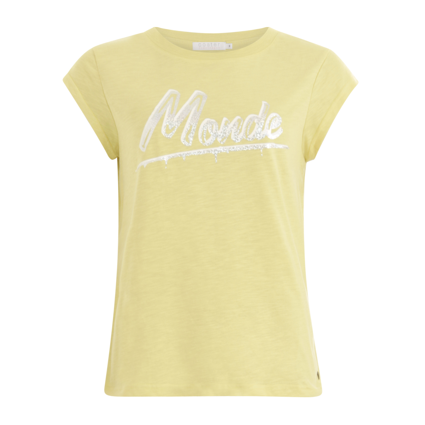 Coster Copenhagen T shirt with monde print Light yellow